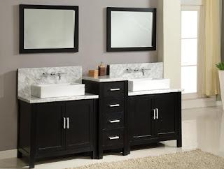 bathroom vanities with glass sinks