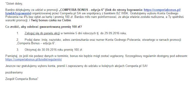 comperia bonus 6 mail do uczestników