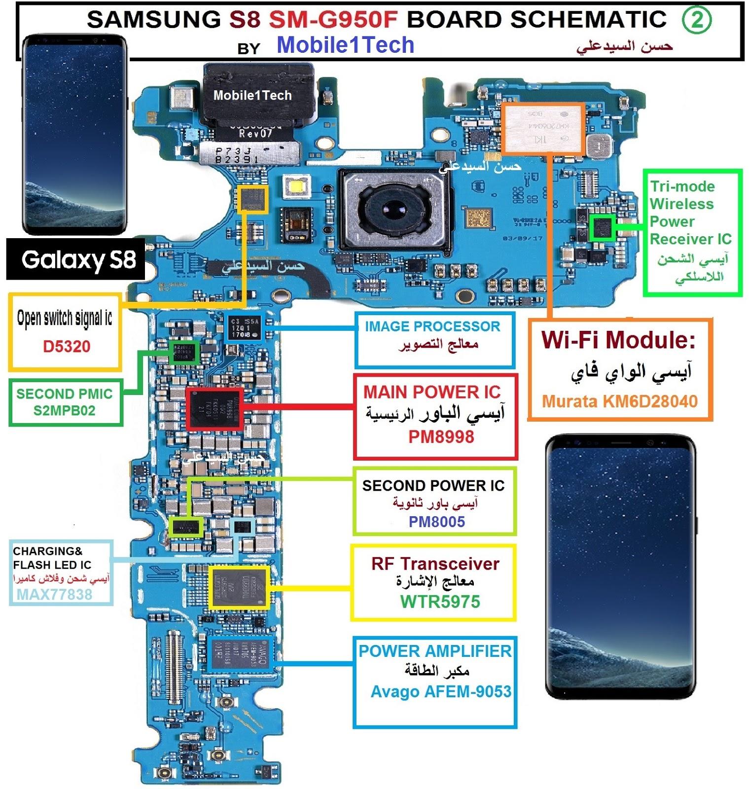 samsung s8 sm g950f board schematic s8 [ 1519 x 1600 Pixel ]