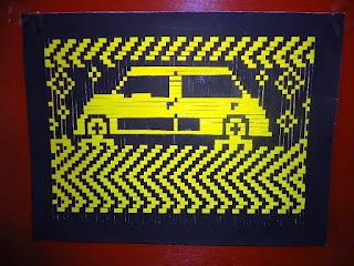 Gambar Anyaman Kertas Motif Mobil 201614