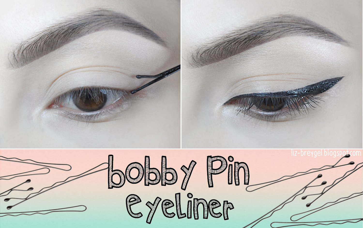 liz breygel makeup eyeliner styles bobby pin makeup tutorial step by step pictures