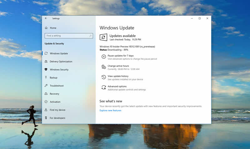 Windows 10 build 18312 includes Reserved Space, improved Windows Subsystem for Linux, updated UI for Reset this PC and more