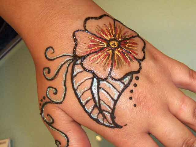 Henna Flower Tattoo Designs: Mehandi Design,Heena Designs,Indian