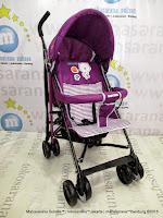 Kereta Dorong Bayi BabyDoes CH204 Clap Buggy Purple