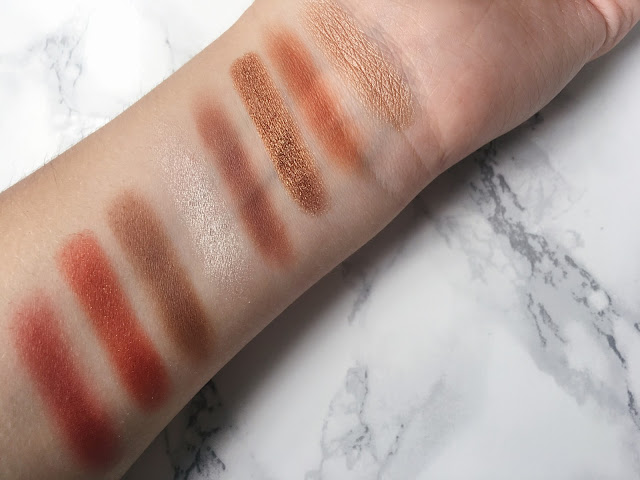 bronze swatches on arm