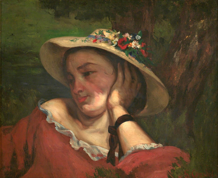 Gustave Courbet - Young Ladies on the bank of the Seine (fragment c.1857)