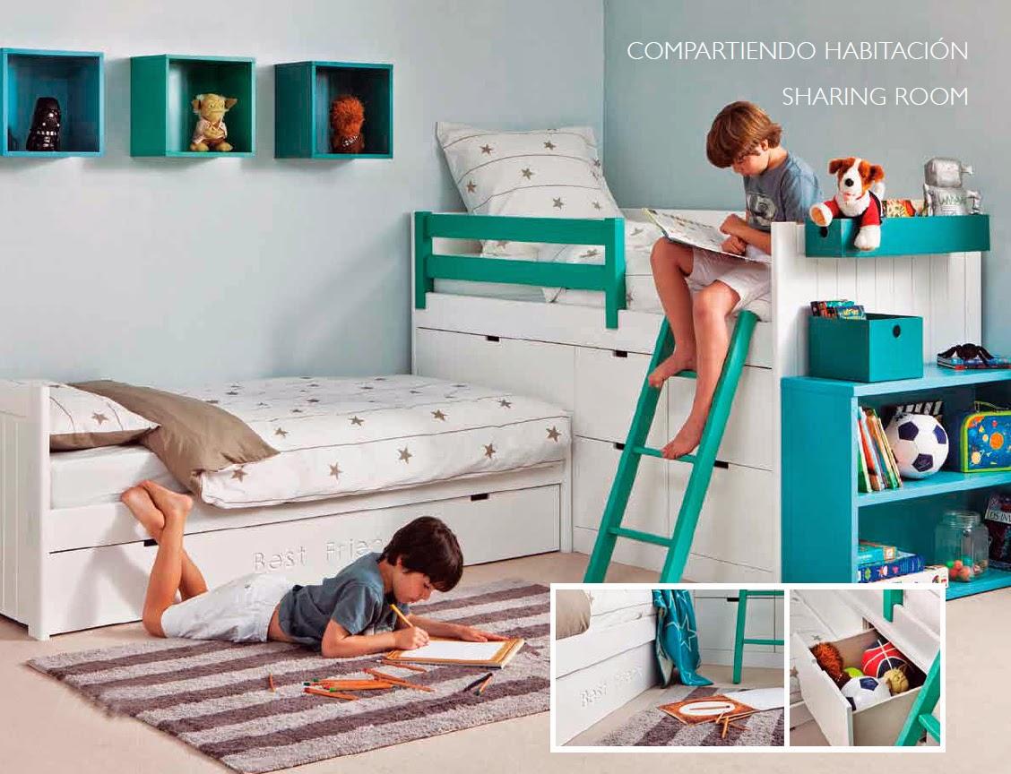 Wall beds ecuador 5 ideas para decorar habitaciones - Habitacion infantil compartida ...