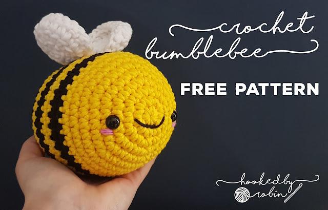 Free crochet amigurumi bumblebee pattern