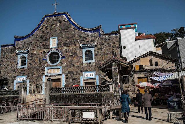 Igreja católica em Lankou, na costa, diocese de Mindong, no sul da China
