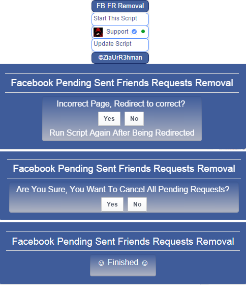 Facebook Pending Sent Friends Requests Removal