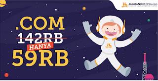 Promo domain .com murah September 2017