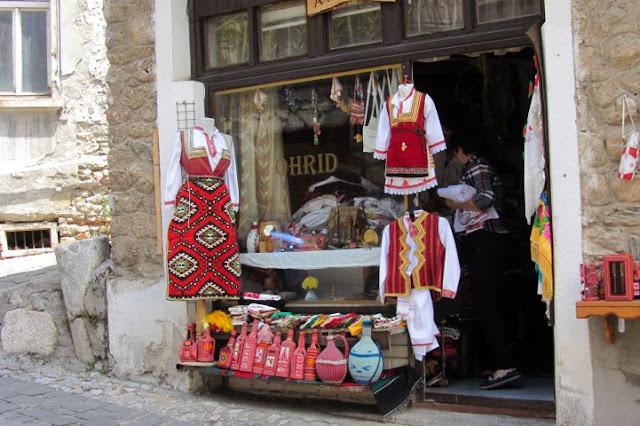 Macedonië, Ohrid, winkeltje
