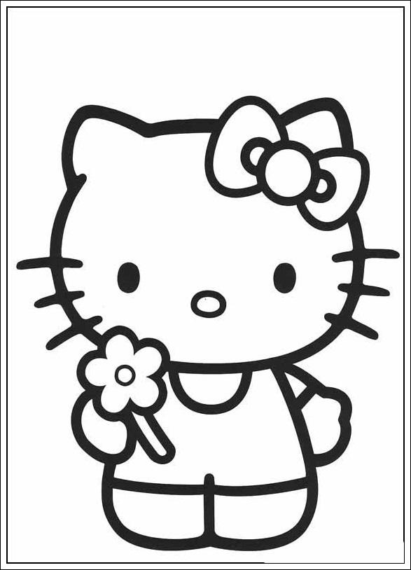 Ausmalbilder Zum Ausdrucken Hello Kitty Hello Kitty