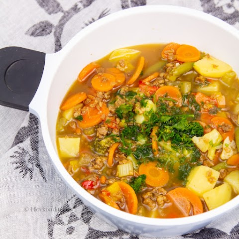 Vegan Minced Meat Soup