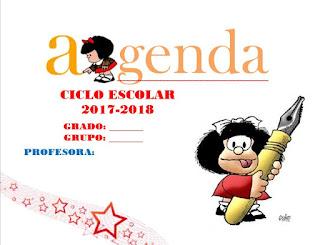 Agenda escolar mafalda 2017-2018 en word editable