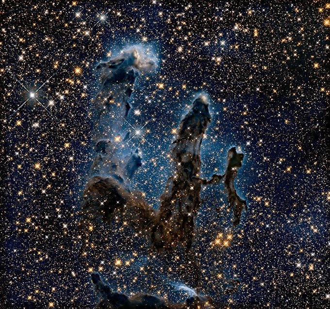 One of the best photographs of the Hubble telescope - Eagle Nebula Pillars of Creation