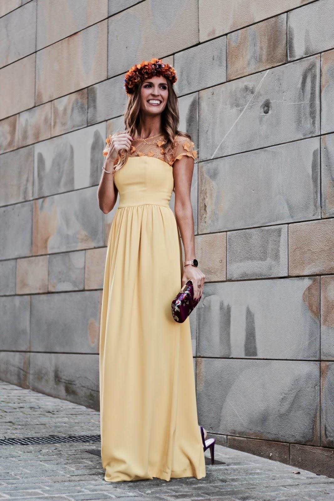 vestido largo amarillo boda