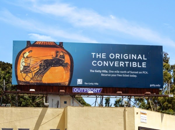 Original Convertible Getty Villa billboard