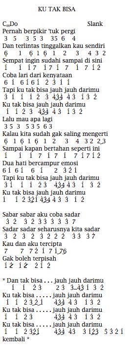 Kunci Gitar Slank Ku Tak Bisa Jauh : kunci, gitar, slank, Angka, Slank, Dunia, Lirik