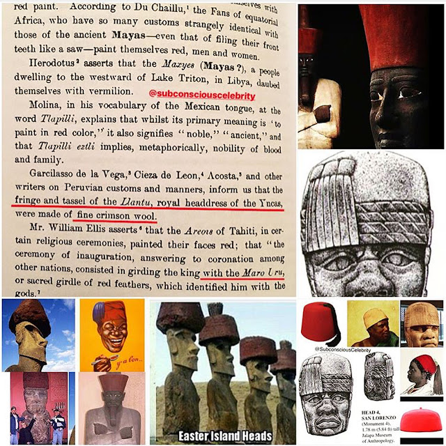 ancient olmec easter island moors with fez