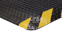 Greatmats Diamond Foot Yellow Border custom fatigue mat