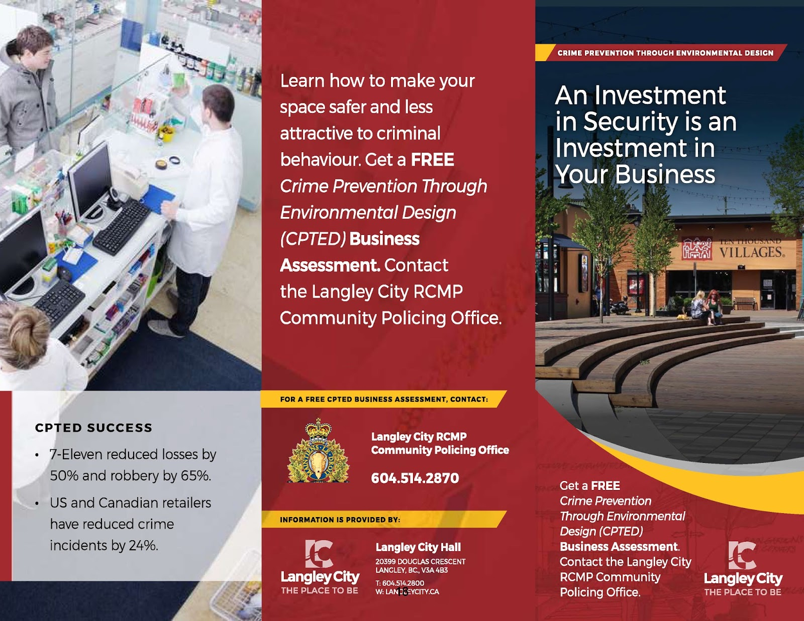 New crime prevention brochure for businesses - outside. Select image to  enlarge.