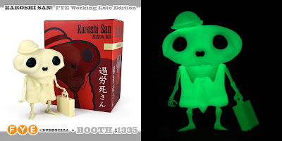 San Diego Comic-Con 2018 Exclusive Karoshi San Working Late Edition Glow in the Dark Vinyl Figure by Andrew Bell x FYE