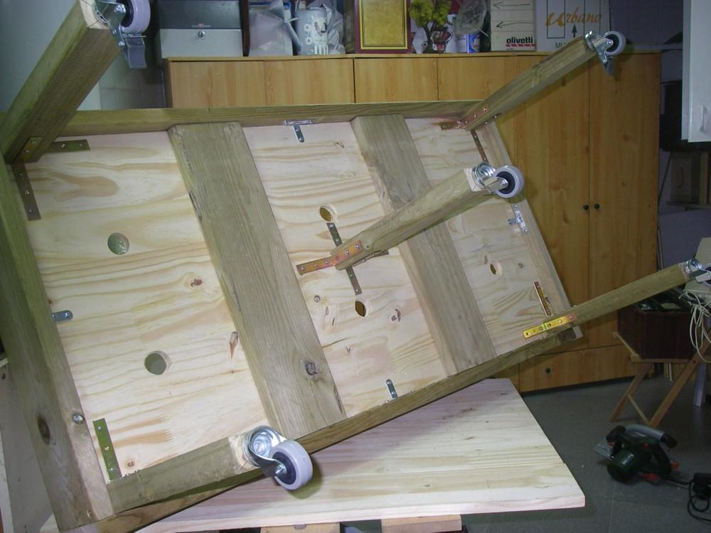 Cultivar el huerto casero mesa de cultivo de madera huerto urbano - Drenaje mesa de cultivo ...