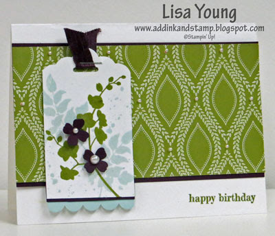 Stampin' Up! World of Dreams stamp set. Handmade birthday card by Lisa Young, Add Ink and Stamp