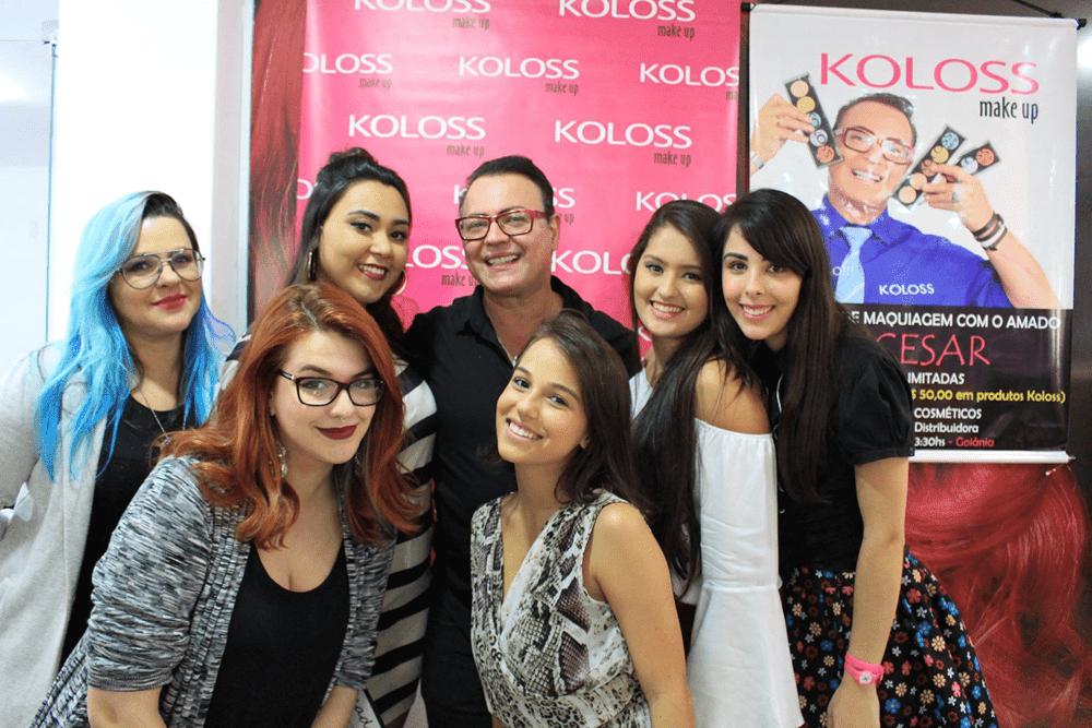 Workshop de maquiagem com Dicesar Koloss Makeup Poli Plasticaholic Nanda Bela Rizério