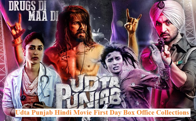 Latest Shahid Kapoor Movie Udta Punjab (2016) box office collection Verdict (Hit or Flop) wiki, report New Records, Overseas day and week end.