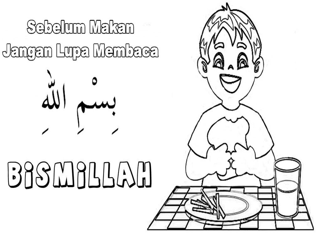 Mewarnai Gambar Anak Muslim Mewarnai Gambar