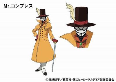 """Tsuguo Mogami como Mr. Compress, cuyo Quirk es """"Comprimir"""""""
