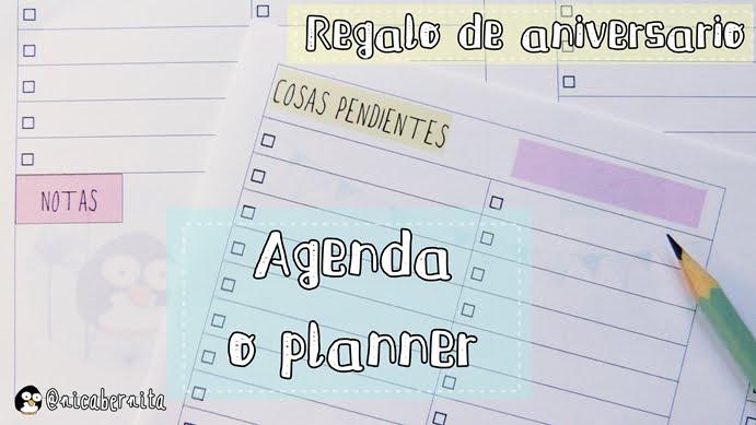 Agenda, planner, planning DIY hecho por mí (Nica Bernita)