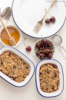 Cherry Oats Crumble Recipe