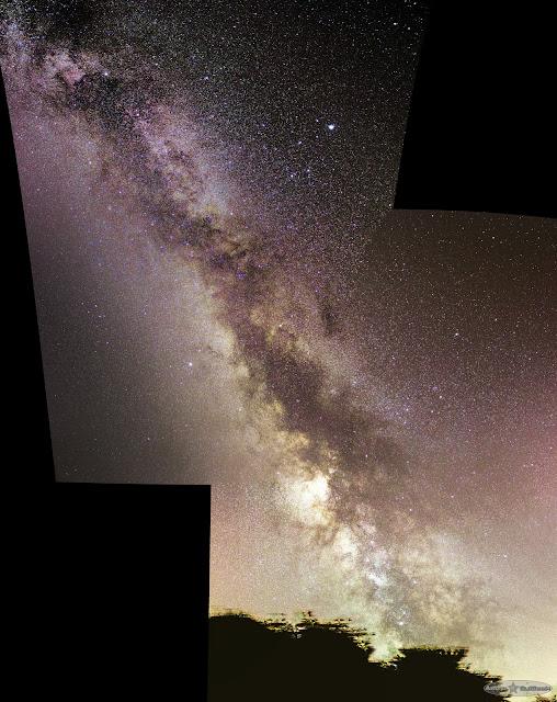 Panorama de la Voie Lactée, été 2016