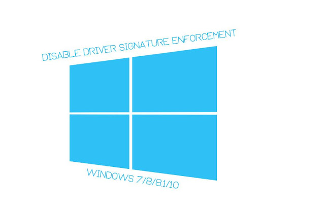 Cara Disable Driver Signature Enforcement sementara Windows 7/8/8.1/10