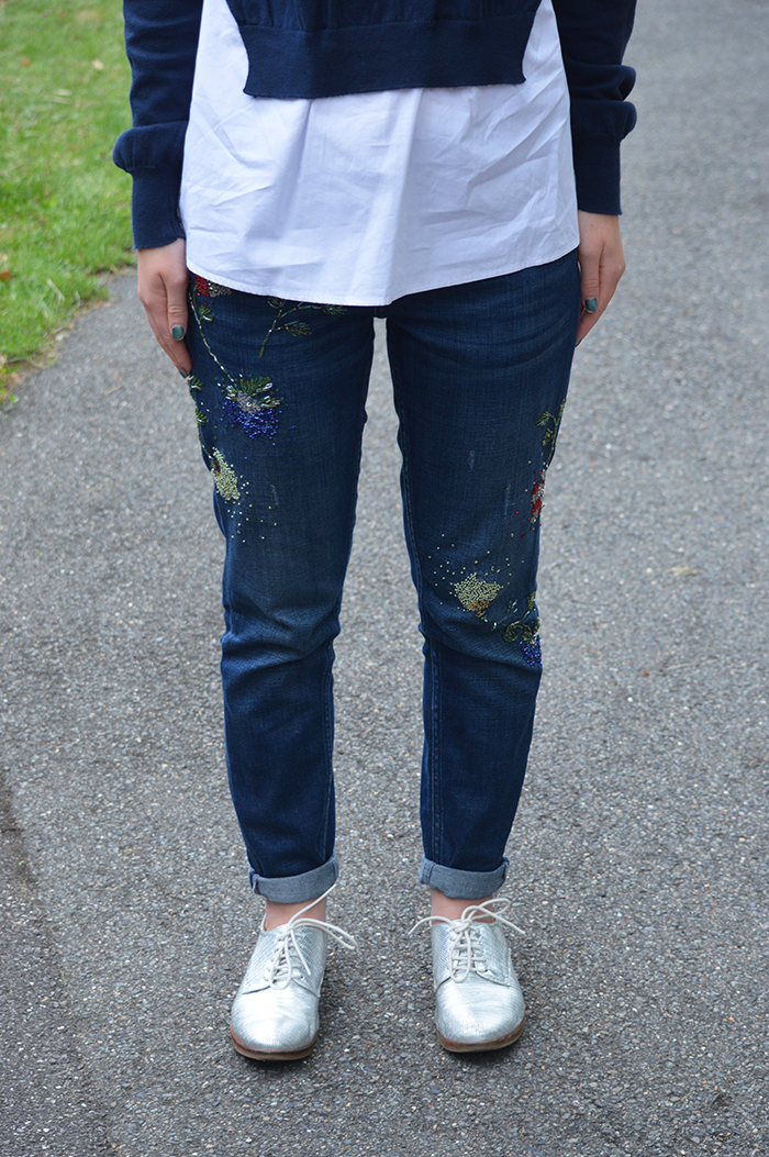 beaded jeans topshop bloggers