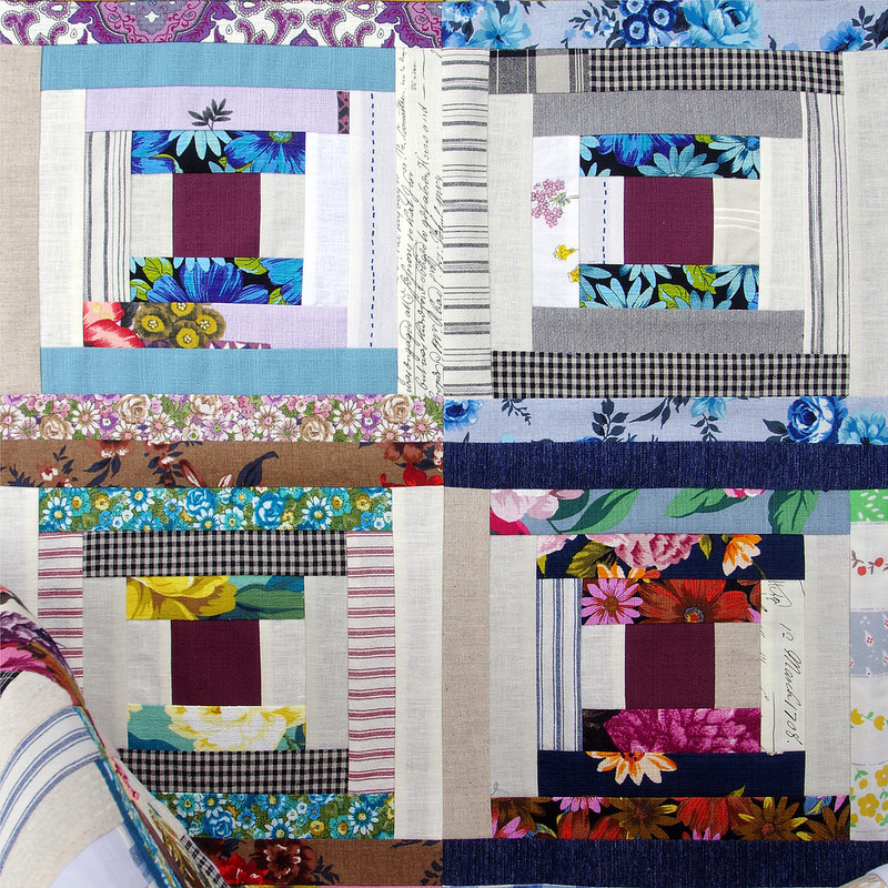 Outback Wife - Courthouse Steps Quilt | © Red Pepper Quilts 2018