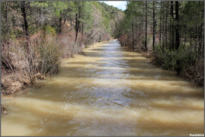 El Río Escabas bien cargado de agua