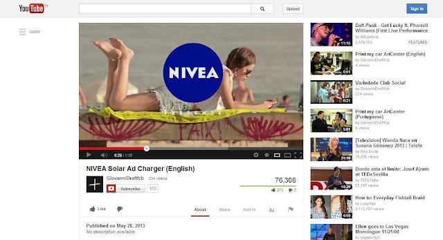 Amazing ad: Nivea's print advert can charge your cell phone / tablet using solar power
