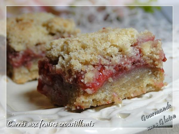 crumble gâteau biscuit aux fraises sans gluten
