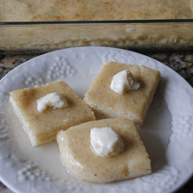 SMEADDIEH BIL SAYNIYEH (CREAM OF WHEAT DESSERT)