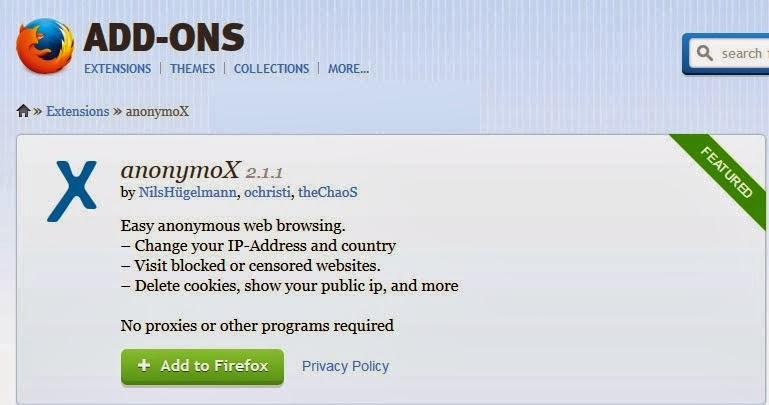 Anonymox Premium Anti Blok Situs