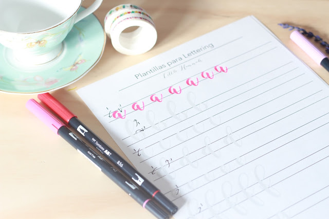 Cinco plantillas para practicar lettering desde casa