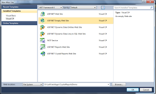 How to create crystal reports in visual studio 2010 in asp.net