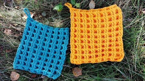 Mijn Haakblog Gehaakte Wafelsteek Sjaal