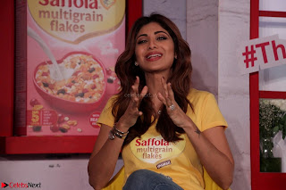 Shilpa Shetty super cute fit in Yellow T Shirt 3.JPG
