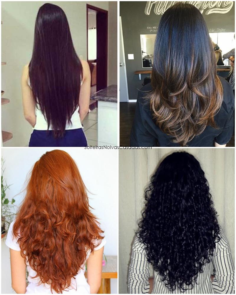 cabelo repicado em V