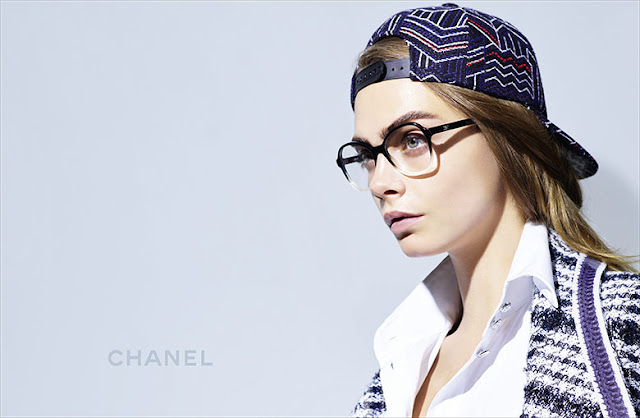 Cara Delevingne by Karl Lagerfeld for Chanel Eyewear Spring 2016